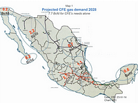 CFE gas map 2028